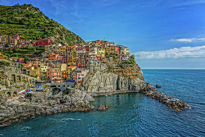 Photograph - Manarola Italy Dsc02565  by Greg Kluempers