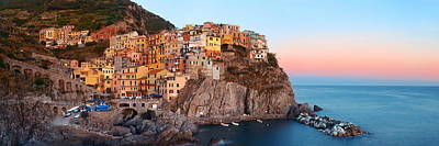 Photograph - Manarola Panorama In Cinque Terre  by Songquan Deng