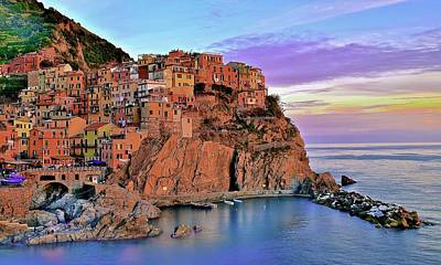 Photograph - Manarola Rainbow Of Colors by Frozen in Time Fine Art Photography