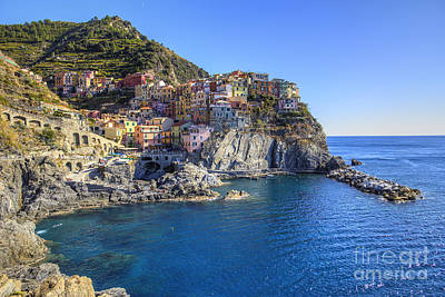 Print featuring the photograph Manarola by Spencer Baugh