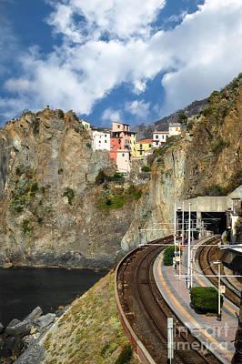Photograph - Manarola Train Platform by Prints of Italy