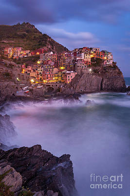 Photograph - Manarola Twilight II by Brian Jannsen