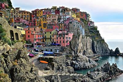 Art Print featuring the photograph Manarola Version Four by Frozen in Time Fine Art Photography