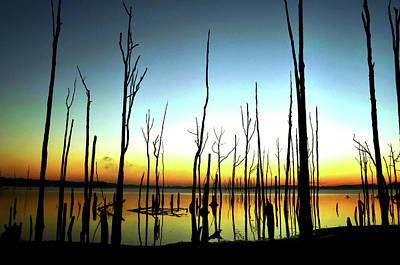 Manasquan Reservoir At Dawn Art Print by Bob Cuthbert