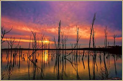 Manasquan Sunrise In New Jersey Print by Geraldine Scull