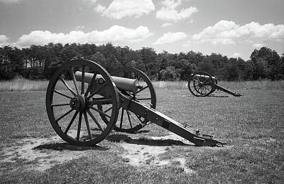 Print featuring the photograph Manassas Battlefield 2 Bw by Frank Romeo
