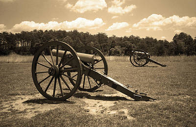 Brown Tones Photograph - Manassas Battlefield 2 Sepia by Frank Romeo