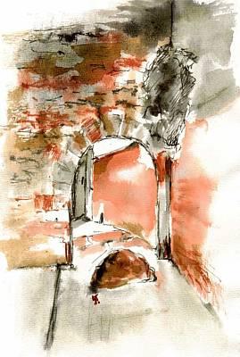 Manastery Gate In Barcelona Original by Karina Plachetka