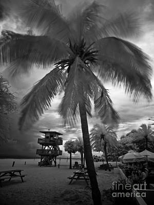 Photograph - Manatee Beach Cafe Lifeguard Tower by Rolf Bertram