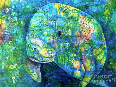 Wall Art - Painting - Manatee by Midge Pippel