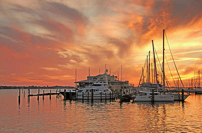 Photograph - Manatee Riverfront Sunset by HH Photography of Florida