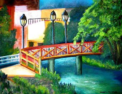 Philadelphia Scene Painting - Manayunk Canal by Marita McVeigh