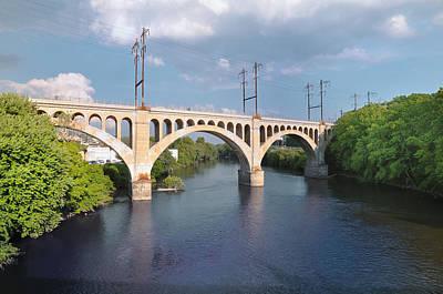 Manayunk Photograph - Manayunk Rail Road Bridge by Bill Cannon