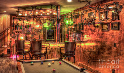 Steampunk Royalty-Free and Rights-Managed Images - ManCave 7 Steampunk Bar Art by Reid Callaway