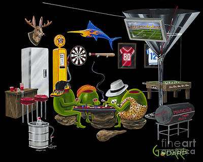 Bbq Painting - Mancave by Michael Godard