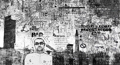 Manchester Graffito Art Print by Andy  Mercer