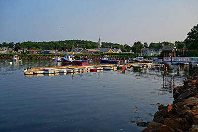 Row Boat Digital Art - Manchester Harbor Manchester By The Sea Ma by Toby McGuire
