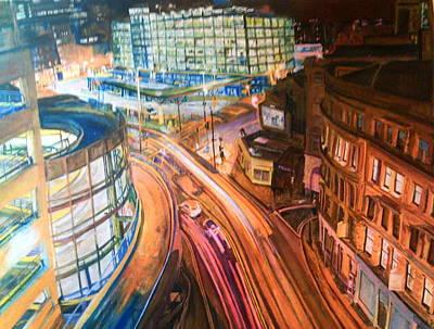 Manchester High Street Art Print