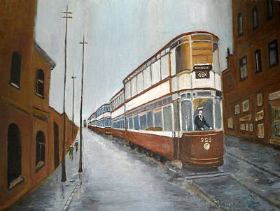 Manchester Piccadilly Tram Art Print