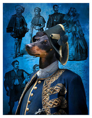 Painting - Manchester Terrier Art Canvas Print - Duc by Sandra Sij
