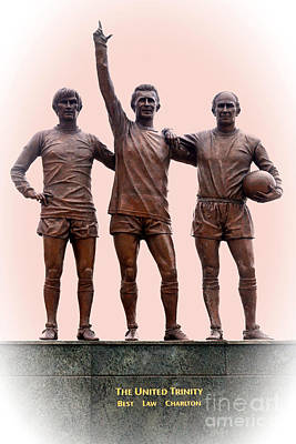 Photograph - Manchester United Trinity by David Birchall