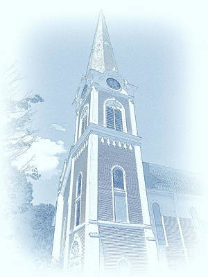 Manchester Vt Church Art Print by Susan Lafleur