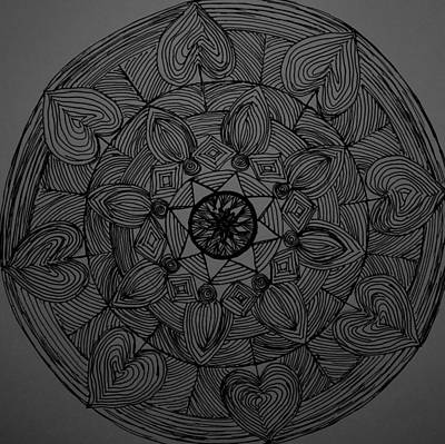 Drawing - Mandal 1 by Usha Rai