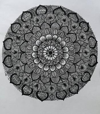 Drawing - Mandal 5 by Usha Rai