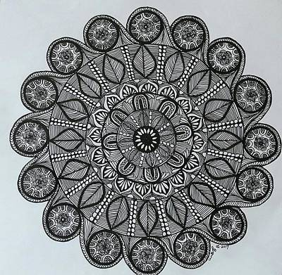 Drawing - Mandal 6 by Usha Rai