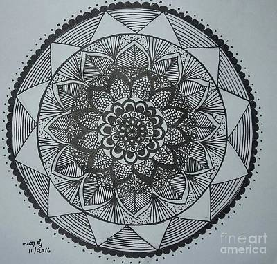 Drawing - Mandal by Usha Rai