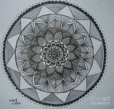 Drawing - Mandal by Usha Rai