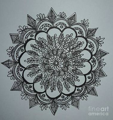 Drawing - Mandal2 by Usha Rai