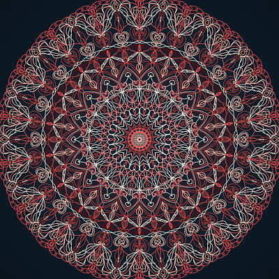 Digital Art - Mandala 1 by Ronda Broatch