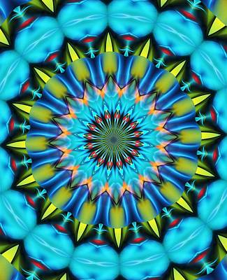 Digital Art - Mandala 111511 A by David Lane