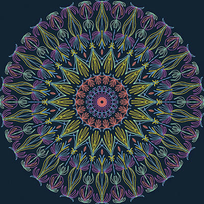 Digital Art - Mandala 2 by Ronda Broatch