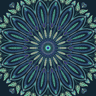 Digital Art - Mandala 3 by Ronda Broatch