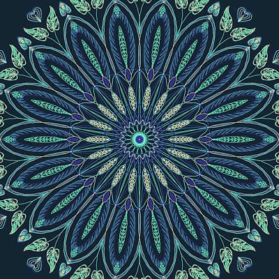 Digital Art - Mandala 3 by Ronda Broatch