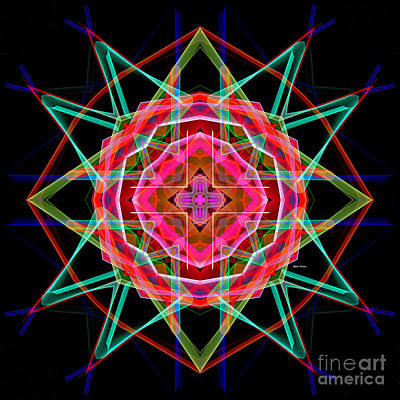 Digital Art - Mandala 3049a by Rafael Salazar
