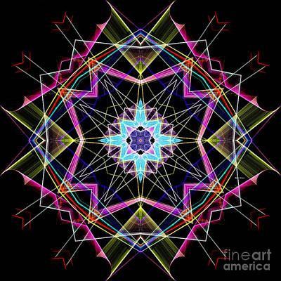 Digital Art - Mandala 3304a  by Rafael Salazar
