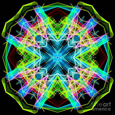Digital Art - Mandala 3308a  by Rafael Salazar