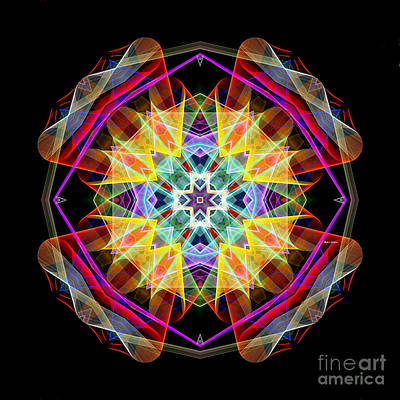Digital Art - Mandala 3309a by Rafael Salazar