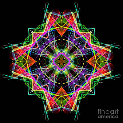 Digital Art - Mandala 3324a by Rafael Salazar