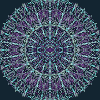 Digital Art - Mandala 4 by Ronda Broatch