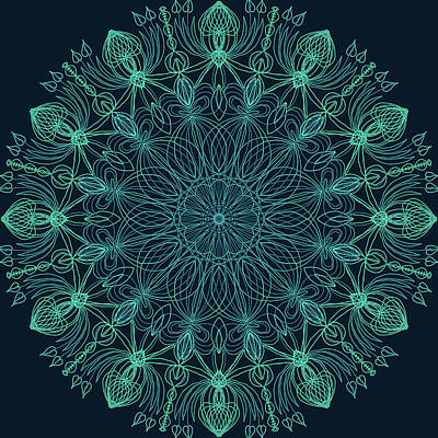 Digital Art - Mandala 5 by Ronda Broatch