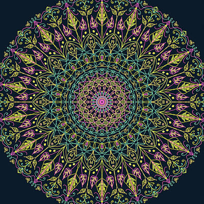 Digital Art - Mandala 6 by Ronda Broatch