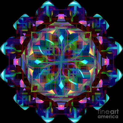 Digital Art - Mandala 9735 by Rafael Salazar