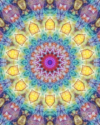 Zen. Chakras Digital Art - Mandala Abstract - Floral Abstract No. 02 by Dirk Czarnota