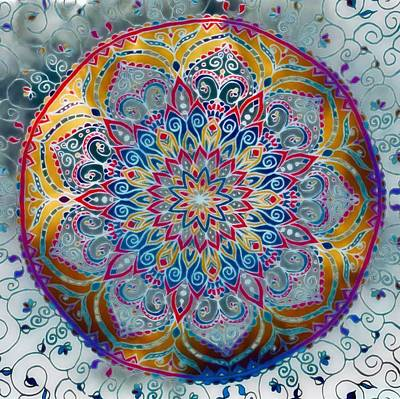 Painting - Mandala Abstract by Gabriella Weninger - David