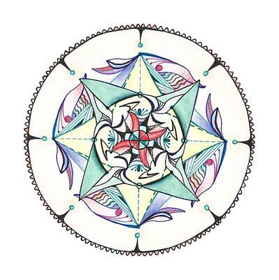 Mandala Art Print by Alla Ilencikova