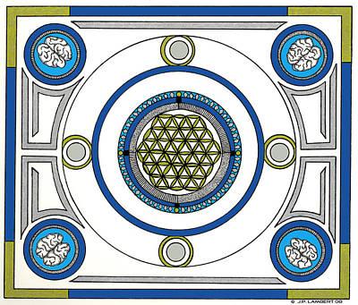 Mandala Anese Art Print by J P Lambert